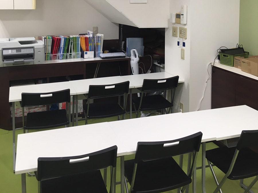 長田区内にある新長田教室の自習机